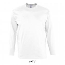 Tee-shirt manches longues homme semi-peigné 150 g blanc