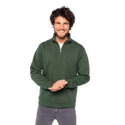 Sweat-shirt col zippé homme 280 g blanc