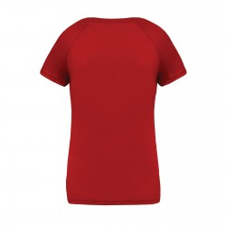 Tee-shirt respirant col v femme 140 g couleur