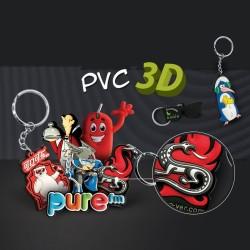 Porte-clés création pvc souple 3D Gunnar jusqu'à 6 cm