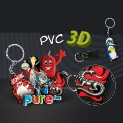 Porte-clés création pvc souple 3D Gunnar jusqu'à 7 cm