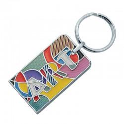 Porte-clés métal laqué en creux Bertil jusqu'à 4,8 cm