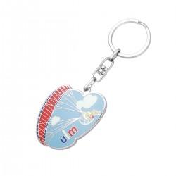 Porte-clés métal avec résine Hakon jusqu'à 4,8 cm
