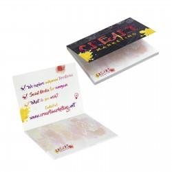 Bloc papier repositionnable couverture 10 x 7,2 cm 50 feuillets