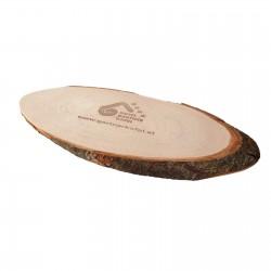 Planche en bois avec écorce Banu 20 à 23 cm