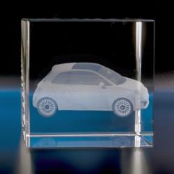 Cube verre optique 6 x 6 x 6 cm