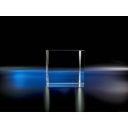 Cube verre optique 8 x 8 x 8 cm