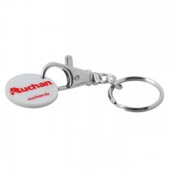 Porte-clés mousqueton et jeton ABS Ivar