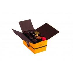 Assortiment de 34 pralines au chocolat noir 470 g