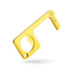Porte-clé métal Zéro contact multifonction doré brillant