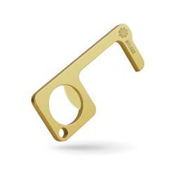 Porte-clé métal Zéro contact multifonction vieux bronze