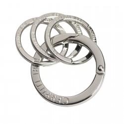 Porte-clés Silver 4 anneaux CERRUTI