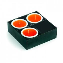 Coffret de 4 bougies en céramique Janne
