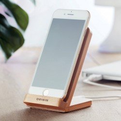 Support téléphone chargeur à induction bambou Willy 5 W