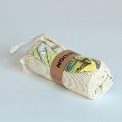 Ensemble 3 sacs filets réutilisables coton Shoppi