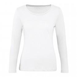 Tee-shirt manches longues femme Bio 140 g blanc