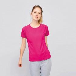Tee-shirt respirant femme 140 g couleur