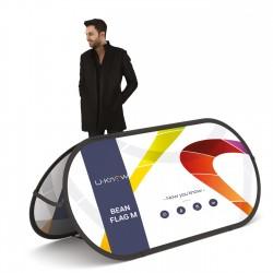 Beanflag L structure à mémoire de forme 250 x 110 cm + sac+ fixation