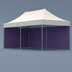 Tente pliable alu 6 x 3m tube hexagonal