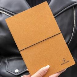 Carnet de notes cuir recyclé Hanna A5