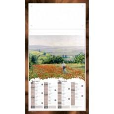 Calendrier à feuillets bloc agrafé scènes champêtres