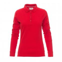 Polo femme ou homme manches longues coton piqué peigné 210 g couleur