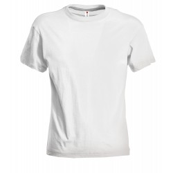 Tee-shirt femme peigné 150 g blanc