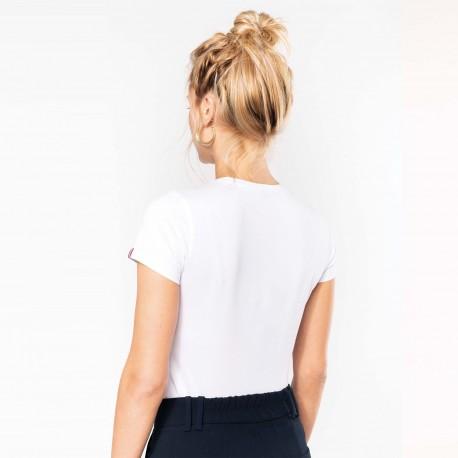 Tee-shirt femme coton peigné biologique 170 g White