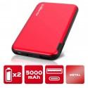 Batterie de secours 5000 mAh Alette Rouge