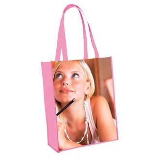 Sac laminé shopping vertical brillant personnalisable