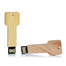 Clé USB personnalisée bois forme de clé