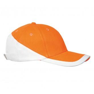 Casquette personnalisée bicolore orange et blanche