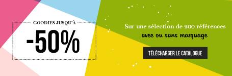 promo catalogue objets publicitaires 50% - 2018