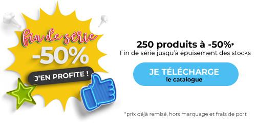 fin de série catalogue objets publicitaires et textile publicitaire 50% - 2020