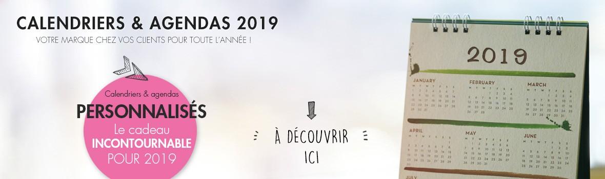 Calendriers publicitaires personnalisés 2019
